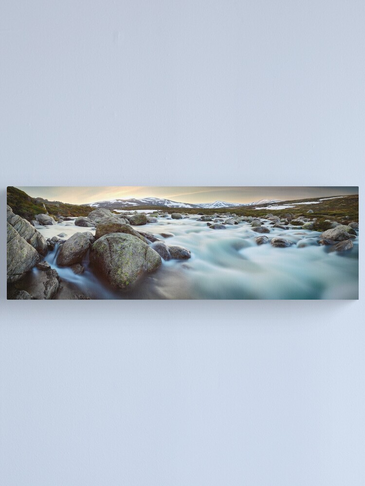 Alternate view of Snowy River Sunset, Mt Kosciuszko, New South Wales, Australia Canvas Print