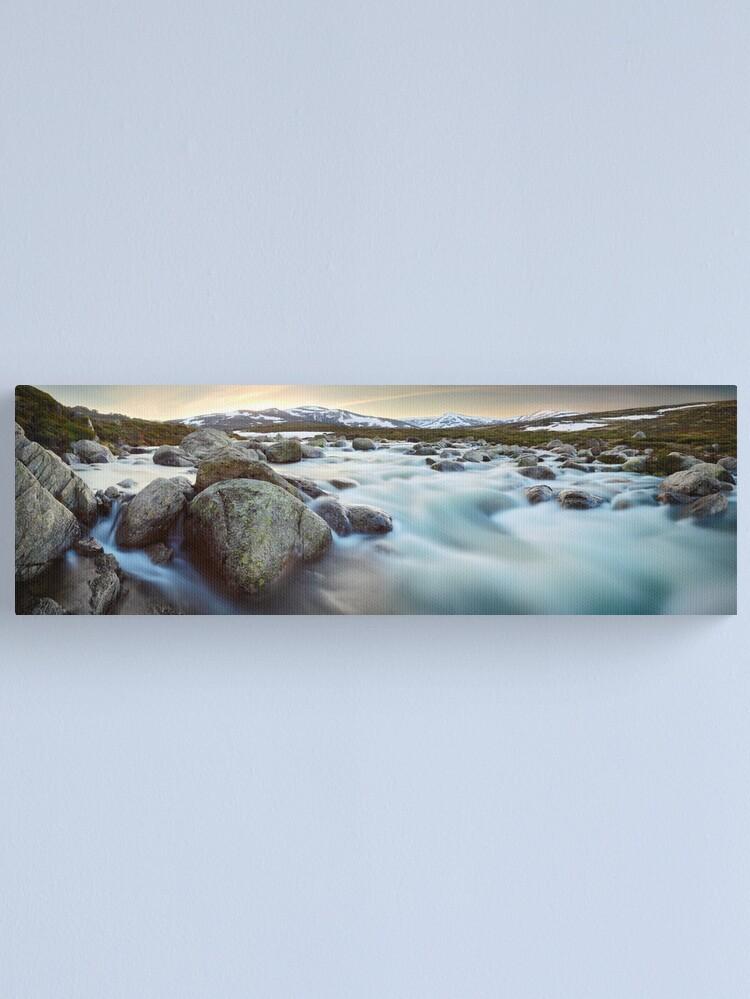 Alternate view of Snowy River Sunset, Mt Kosciuszko, New South Wales, Australia Canvas Print