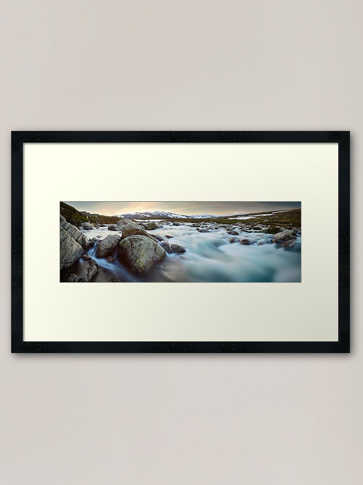 Alternate view of Snowy River Sunset, Mt Kosciuszko, New South Wales, Australia Framed Art Print