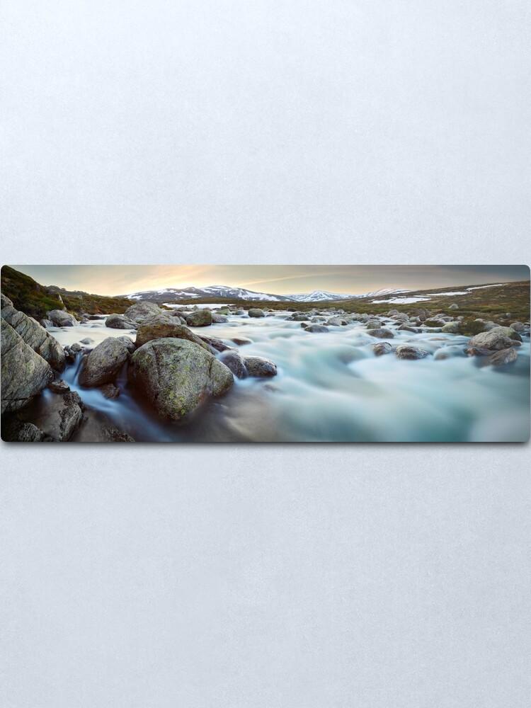 Alternate view of Snowy River Sunset, Mt Kosciuszko, New South Wales, Australia Metal Print