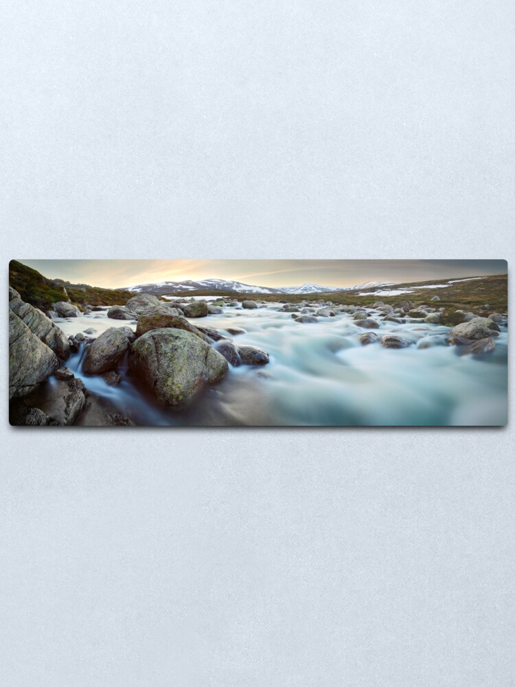 Alternate view of Snowy River Sunset, Mt Kosciuszko, New South Wales, Australia Metal Print