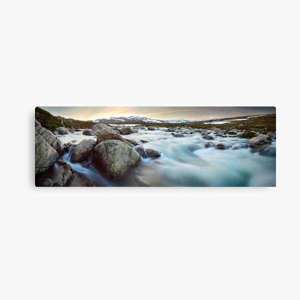 Snowy River Sunset, Mt Kosciuszko, New South Wales, Australia Canvas Print