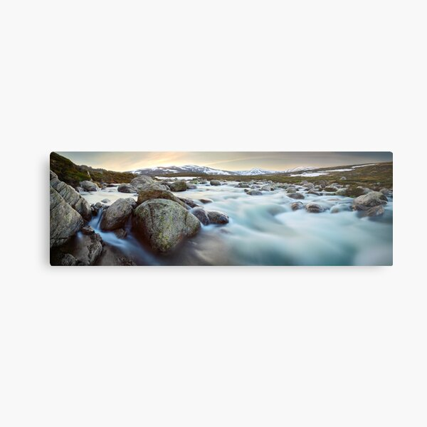 Snowy River Sunset, Mt Kosciuszko, New South Wales, Australia Metal Print