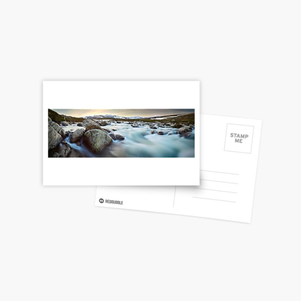 Snowy River Sunset, Mt Kosciuszko, New South Wales, Australia Postcard