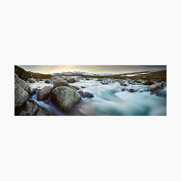 Snowy River Sunset, Mt Kosciuszko, New South Wales, Australia Photographic Print