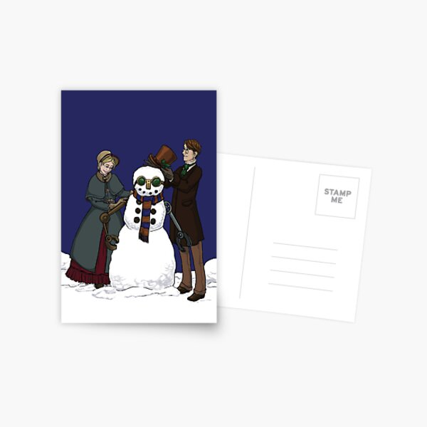 Have Yourself a Steampunk Christmas Postcard