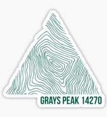 Grays Peak Topo Sticker