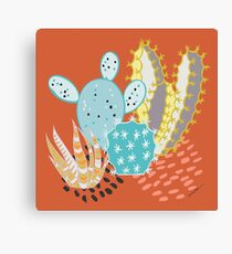 Terra-cotta Cactus Canvas Print