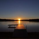 Sunset over Bear Creek Lake by Debra Fedchin