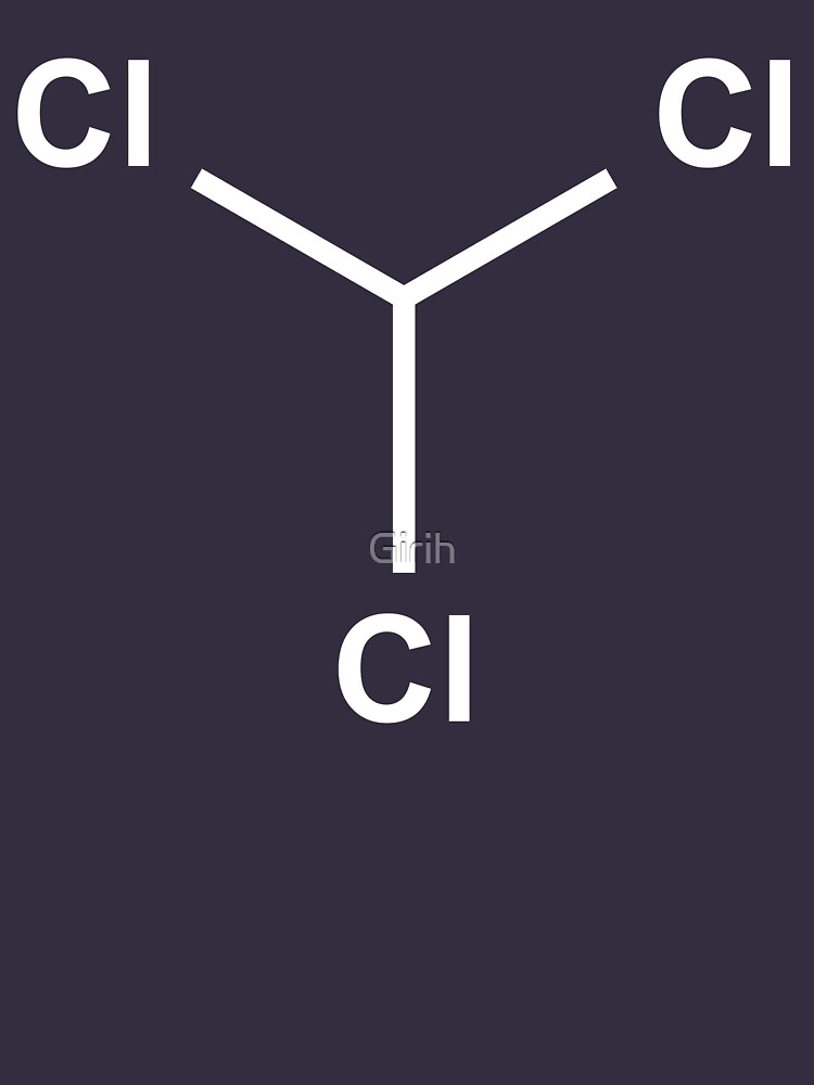 Chloroform Chemical Molecule Structure by Girih