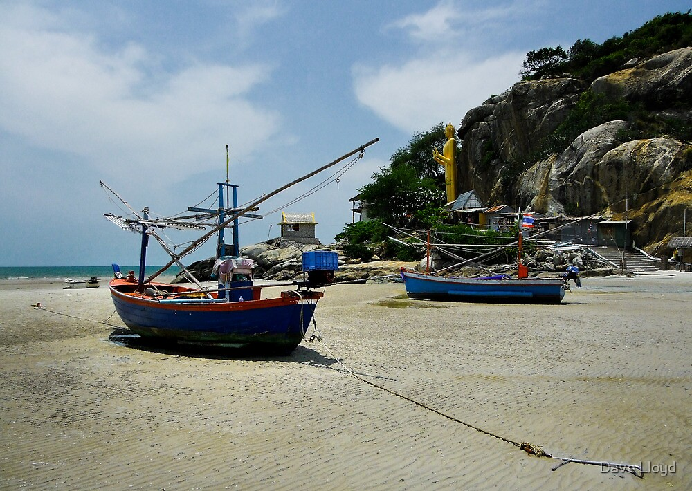 Boats And Buddha by Dave Lloyd