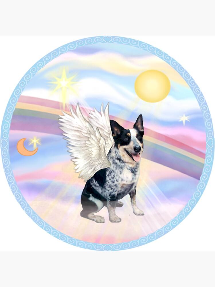 Australian Cattle Dog Angel in Heavens Clouds  by JeanBFitzgerald
