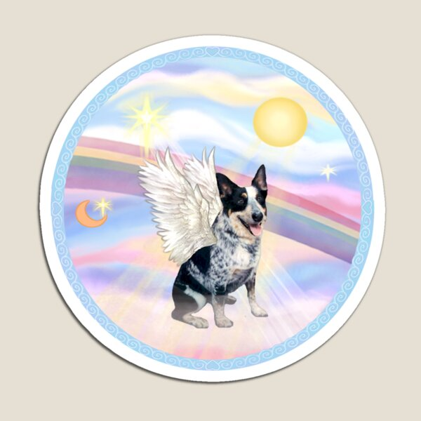 Australian Cattle Dog Angel in Heavens Clouds  Magnet