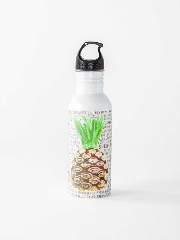 Psych Burton Guster Nicknames - Television Show Pineapple Room Decorative  TV Pop Culture Humor Lime Neon Brown | Water Bottle