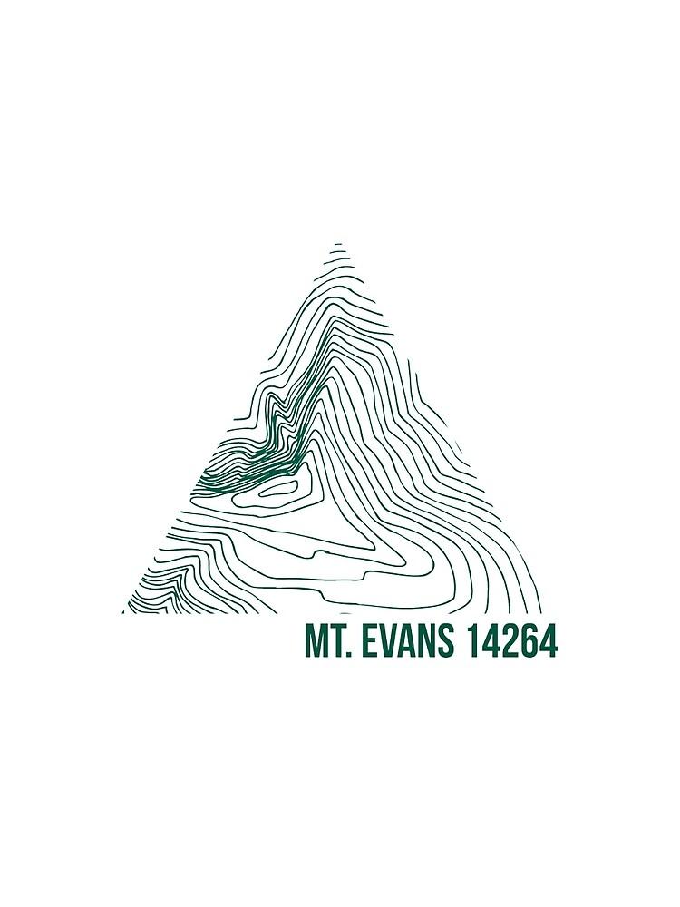 Berg Evans Topo von januarybegan