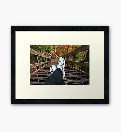 One Step at a Time... Framed Print
