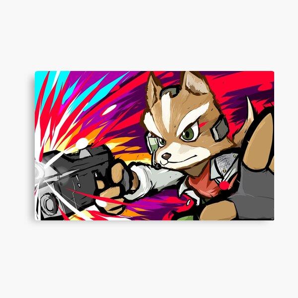 Fox   Blaster Shot Canvas Print