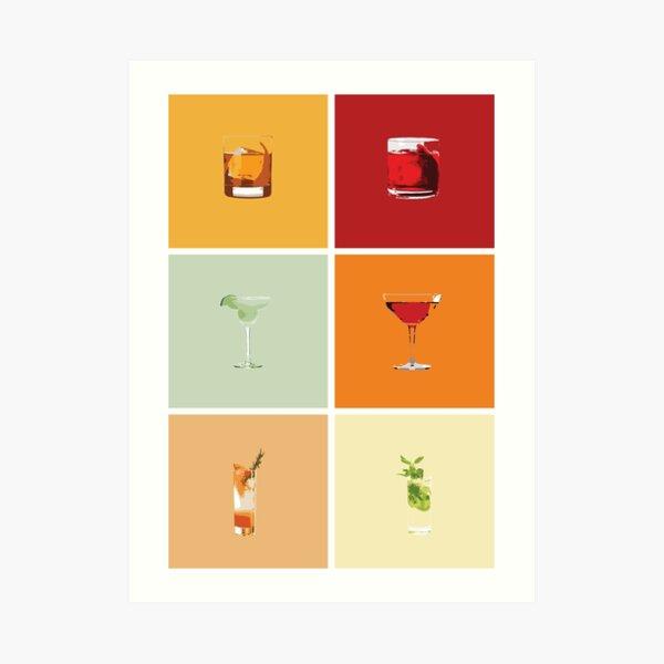 Wine Liqueur cocktail bar fun high quality wall Canvas Print wall art home decor