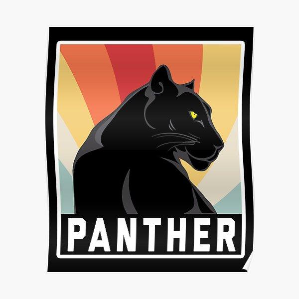 Black Panther Retro Poster