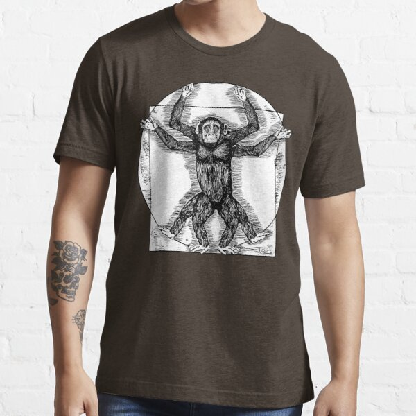 Vitruvian Schimpanse Essential T-Shirt