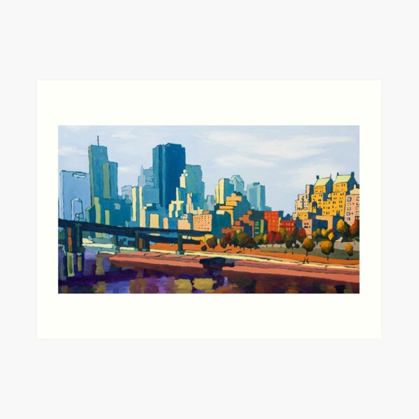 GTA IV Cityscape, Late Afternoon Art Print