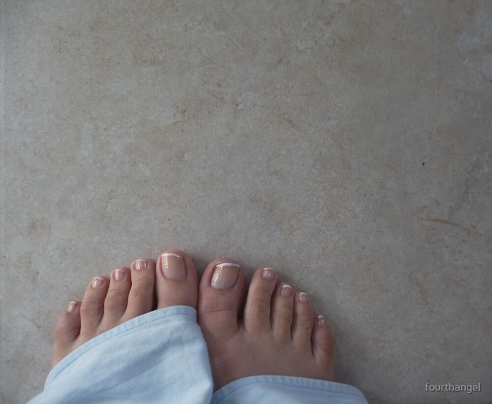 Pajama feet on the tiles by fourthangel
