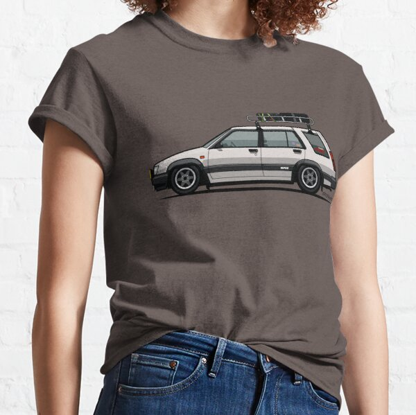 Toyota Tercel SR5 4WD Slammed Wagon AL25 white Classic T-Shirt