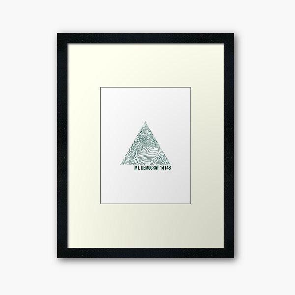 Mount Democrat Topo Framed Art Print