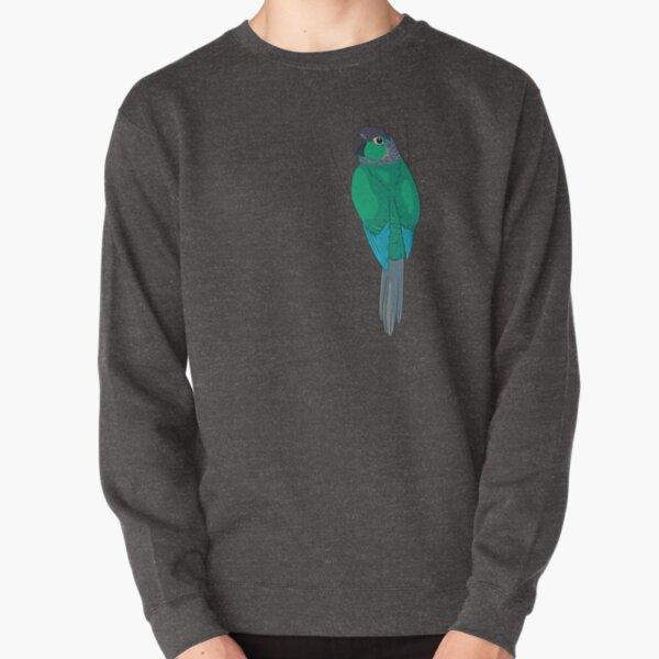 Turquoise Green-Cheek Conure Pullover Sweatshirt