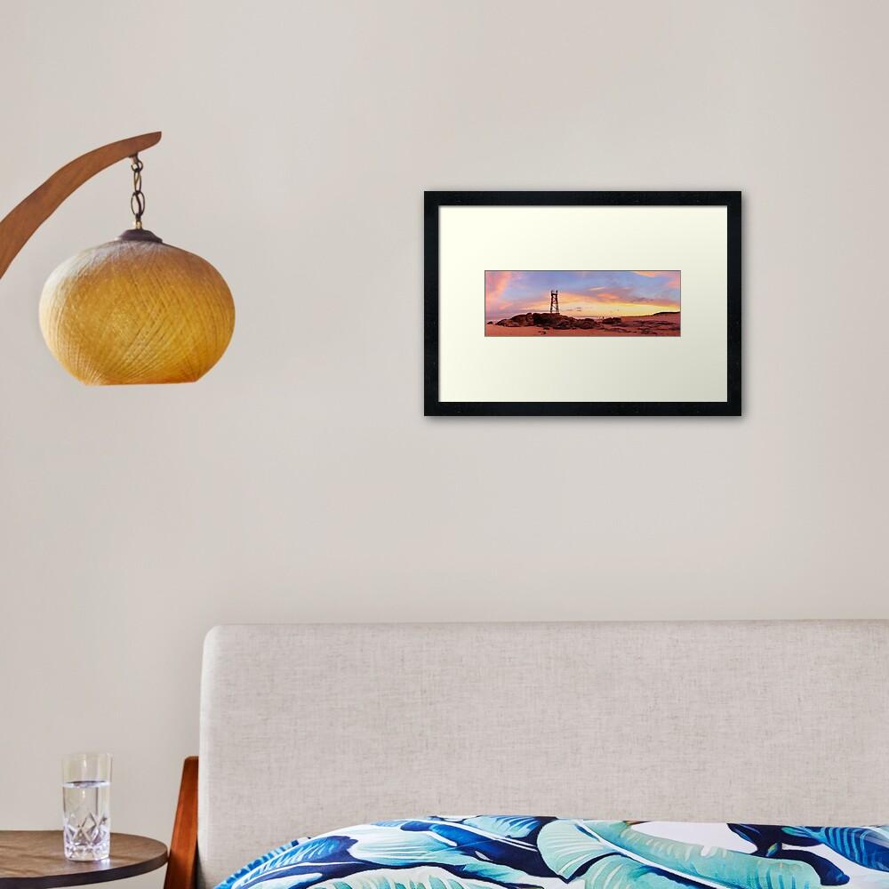 Redhead Beach Sunset, Newcastle, New South Wales, Australia Framed Art Print