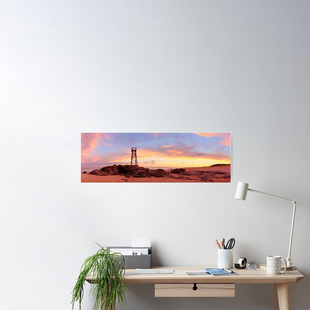 Redhead Beach Sunset, Newcastle, New South Wales, Australia Poster