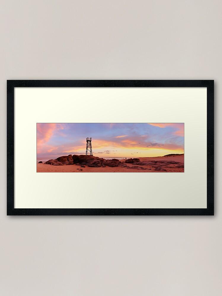 Alternate view of Redhead Beach Sunset, Newcastle, New South Wales, Australia Framed Art Print
