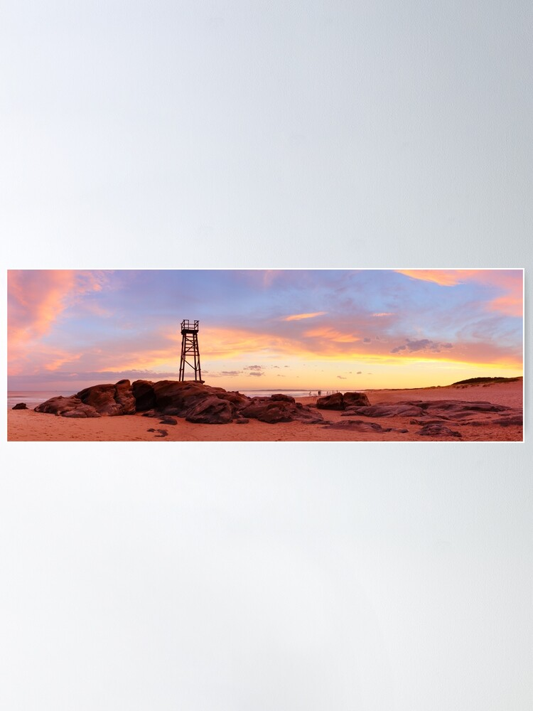 Alternate view of Redhead Beach Sunset, Newcastle, New South Wales, Australia Poster