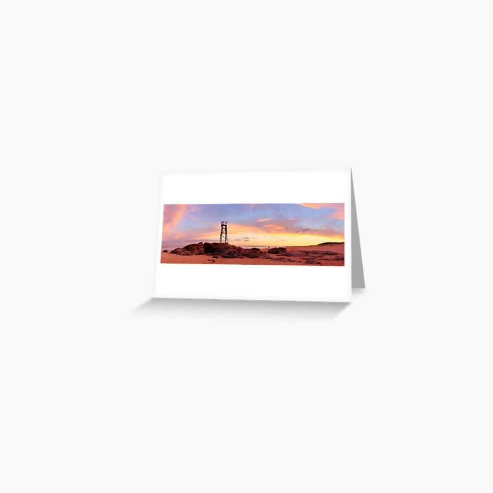 Redhead Beach Sunset, Newcastle, New South Wales, Australia Greeting Card