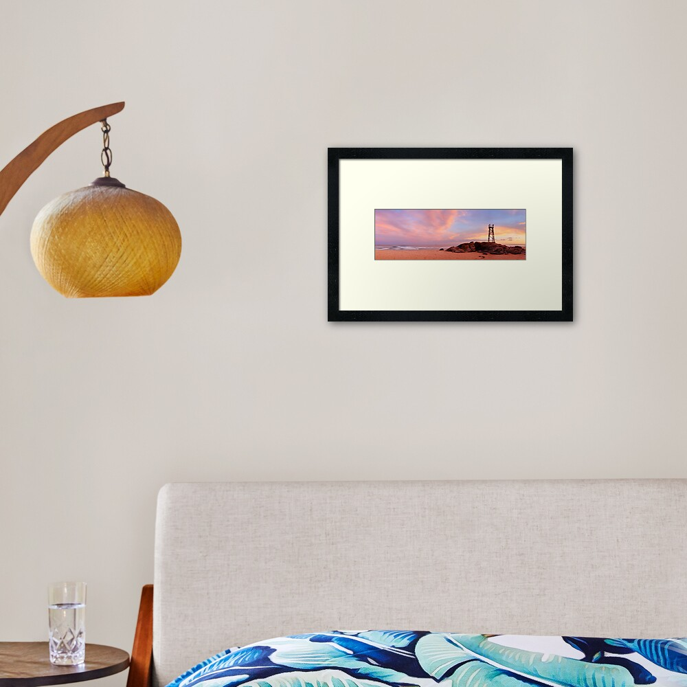 Day's End, Redhead Beach, Newcastle, New South Wales, Australia Framed Art Print