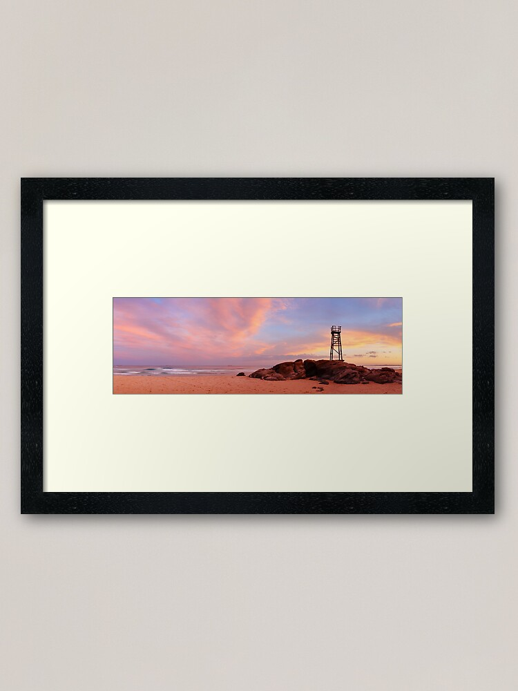 Alternate view of Day's End, Redhead Beach, Newcastle, New South Wales, Australia Framed Art Print