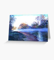 'Rising Mist' Greeting Card
