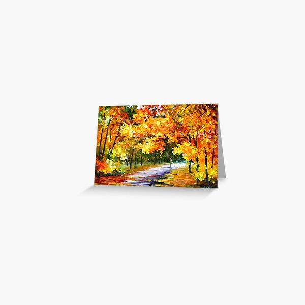 THE PATH OF SUN BEAMS - Leonid Afremov Landscape Greeting Card