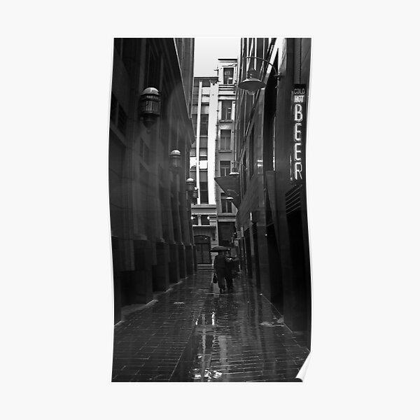 Rainy Lane Poster