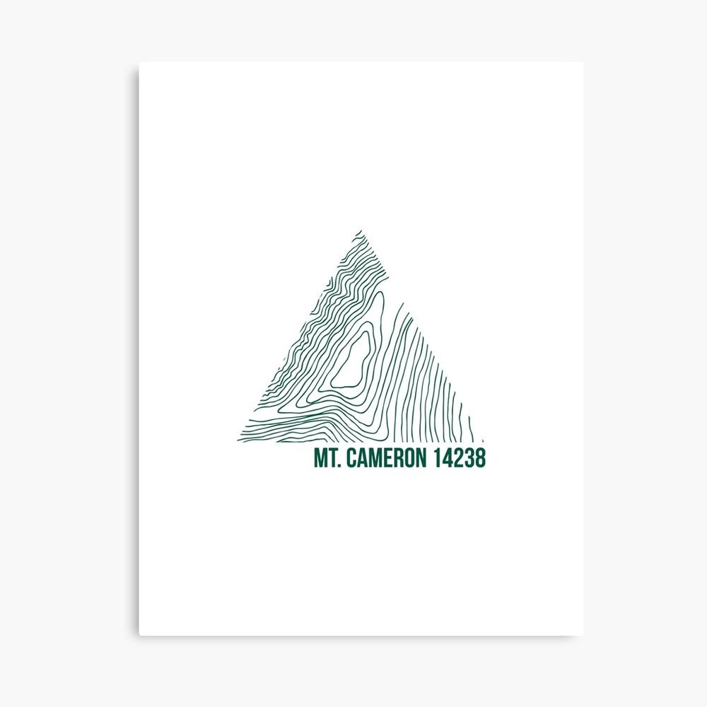 Berg Cameron Topo Leinwanddruck