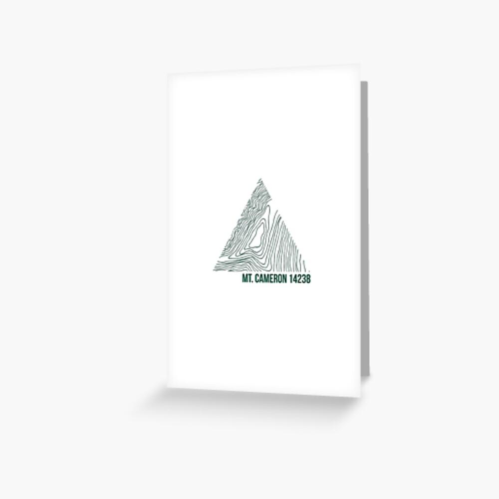 Berg Cameron Topo Grußkarte