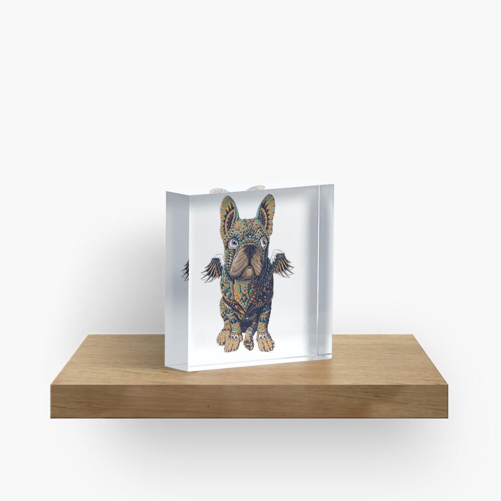 Frenchie Acrylic Block
