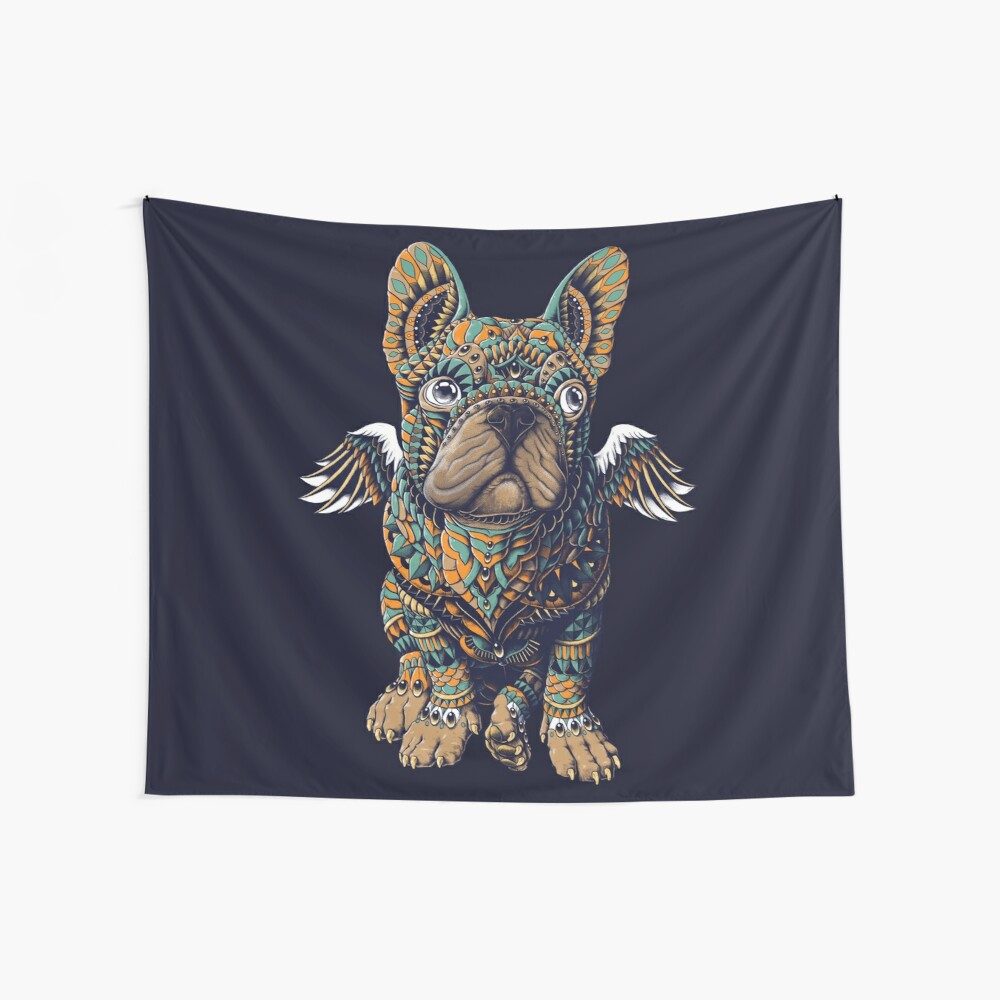 Frenchie Wall Tapestry