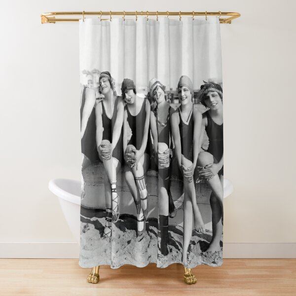 Vintage Bathing Beauties on the Beach Shower Curtain