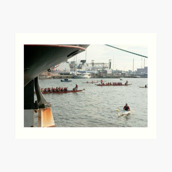 Nautical salut Art Print