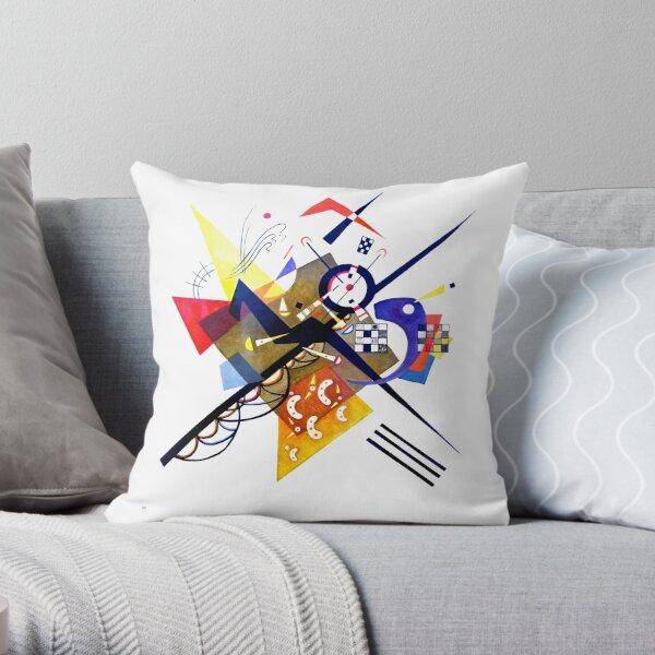 Kandinsky sur blanc II (Auf Weiss) 1923 Reproduction d'œuvres d'art, conception pour affiches, estampes, t-shirts, hommes, femmes, enfants, jeunes Coussin