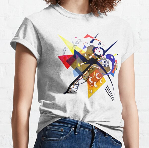 Kandinsky On White II (Auf Weiss) 1923 Artwork Reproduction, Design for Posters, Prints, Tshirts, Men, Women, Kids, Youth Classic T-Shirt