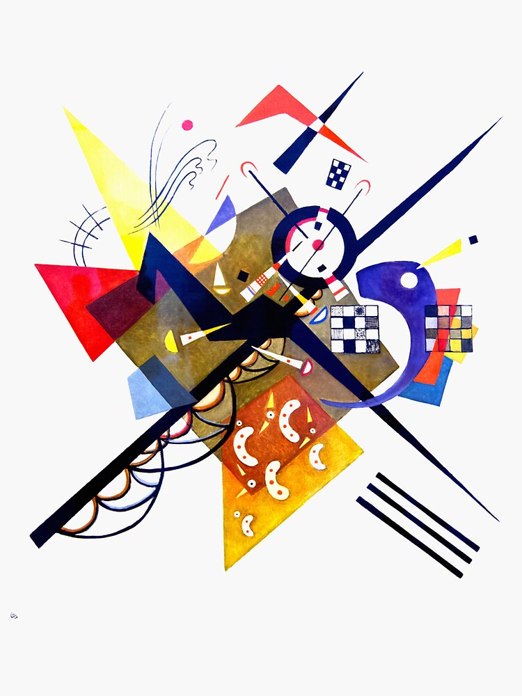 Kandinsky On White II (Auf Weiss) 1923 Artwork Reproduction, Design for Posters, Prints, Tshirts, Men, Women, Kids, Youth by clothorama