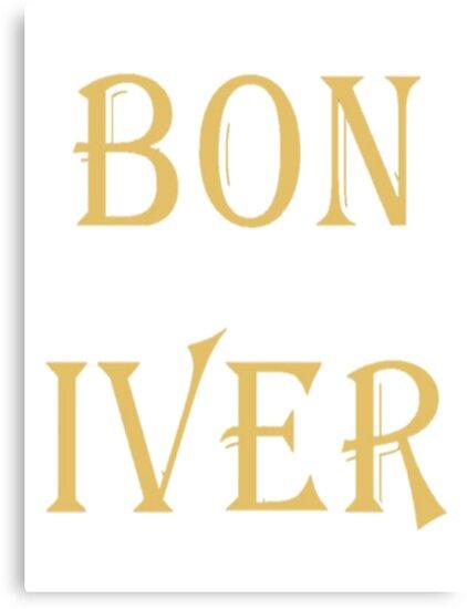 BON IVER Logo (SALE!) by Repave Repave