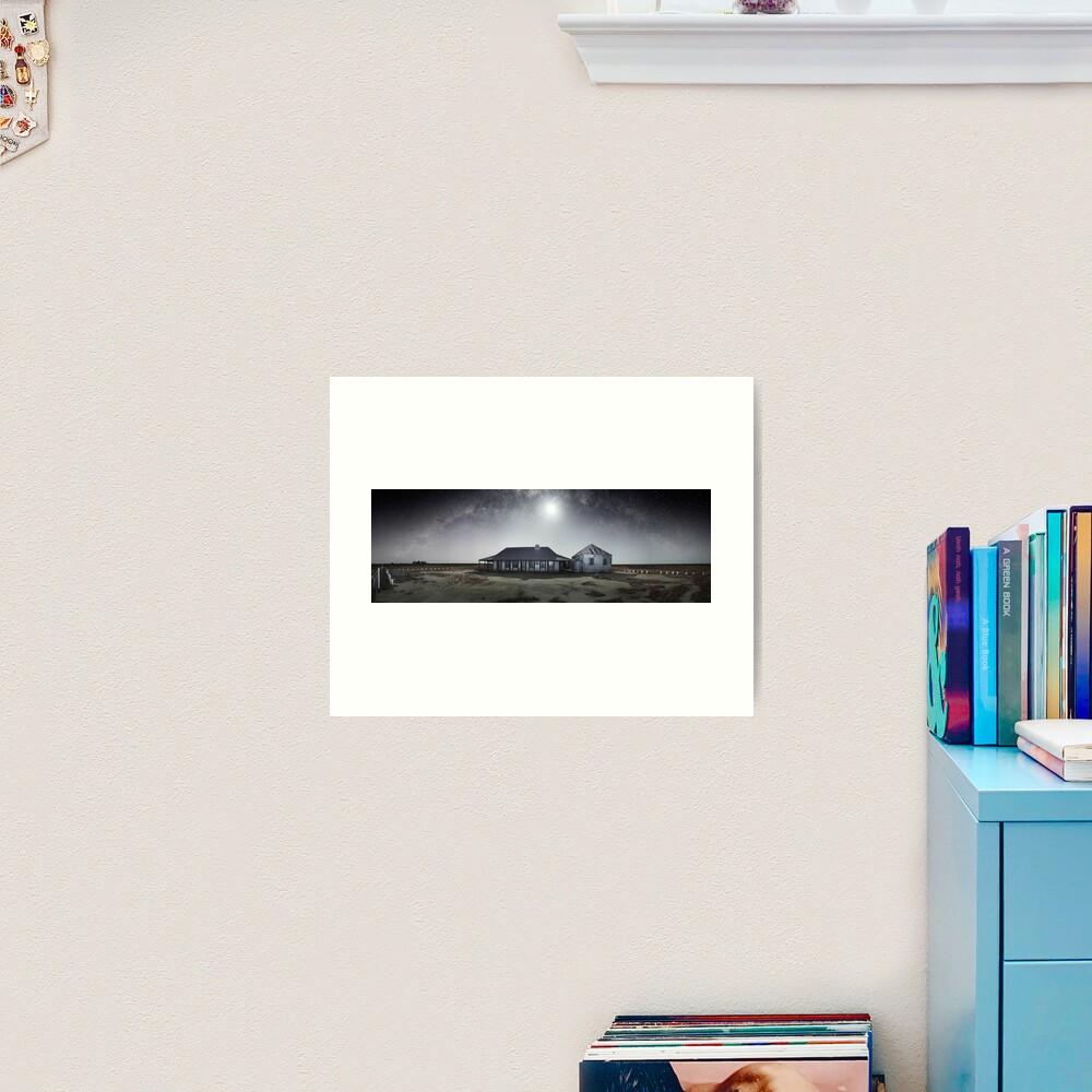 Moonrise, One Tree Hotel, Hay, New South Wales, Australia Art Print